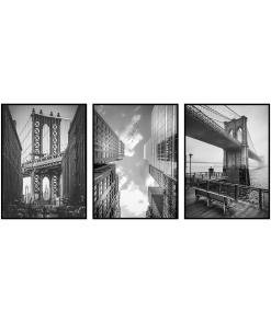 Czarno Białe plakaty do biura architektura