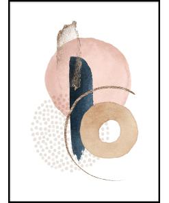 inspiracje plakatu do biura grafika abstrakcja