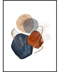 Tryptyk abstrakcja grafika