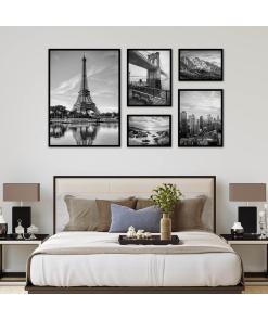 Czarno Białe plakaty do pomieszczeń na ścianę