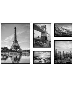 Czarno Białe plakaty z architekturą i krajobrazem