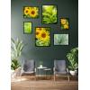 zestaw plakatów z roślinami kwiatami słonecznikami
